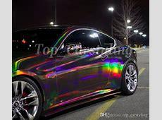 2018 Neo Chrome Black Holographic Iridescent Car Wrap