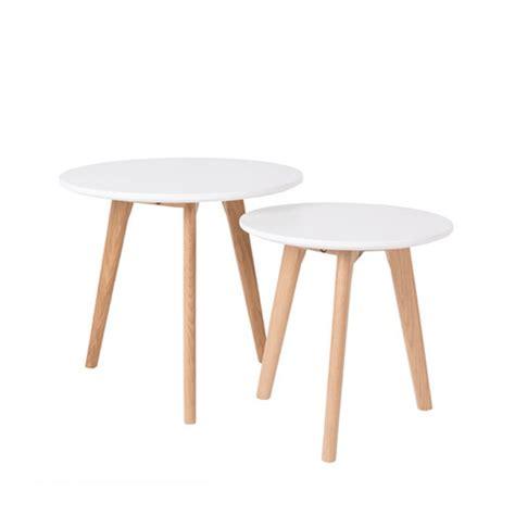 Table D Appoint Scandinave Lot De 2 Tables D Appoint Scandinave Bodine