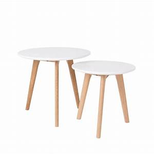 Table D Appoint Scandinave : lot de 2 tables d 39 appoint scandinave bodine ~ Teatrodelosmanantiales.com Idées de Décoration