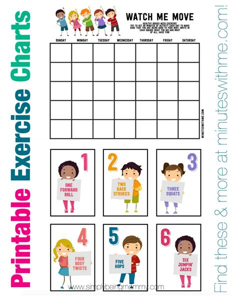 Worksheets Exercise Worksheets For Kids Waytoohuman Free Worksheets For Kids & Printables