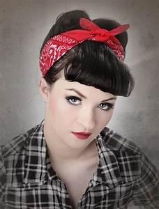 Coiffure Années 60 : 1001 id es pinterest coiffure ann e 60 bandana rouge ~ Melissatoandfro.com Idées de Décoration