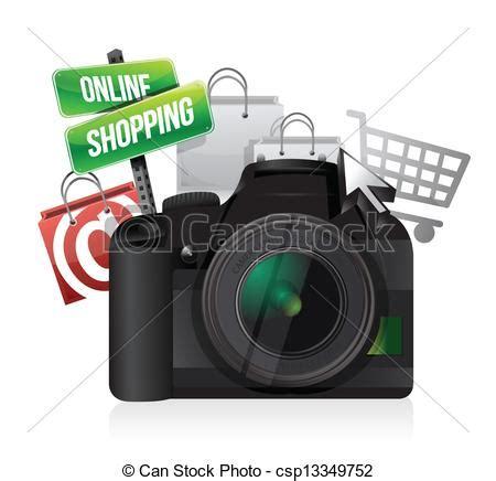 clipart vector  camera  shopping concept