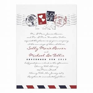 airmail stamps love letter wedding invitation rupa39s With bridal shower letter