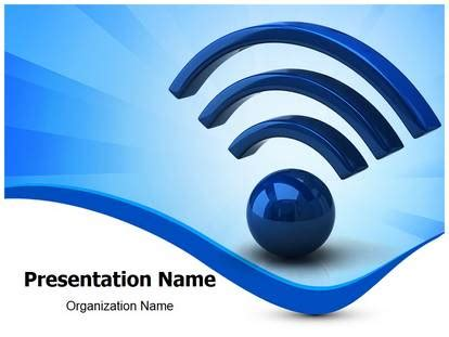 wifi icon powerpoint template background