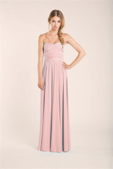 light blush pink dress rose quartz infinity dress long rose quartz bridesmaids