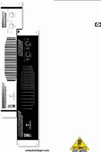 Behringer Europower Ep2500 User Manual 2