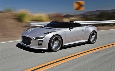 Audi E Tron Spyder Concept Front Three Quarters In Motion