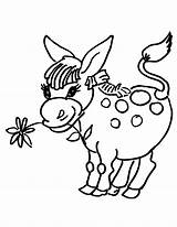 Donkey Coloring Pages Little Flower Donkeys Head Drawing Printable Print Supercoloring Getdrawings Coloring2print sketch template