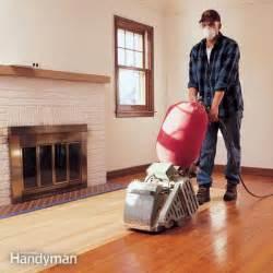 hardwood floor sanding do it yourself tips the family handyman
