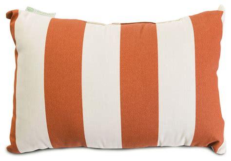 outdoor vertical stripe small pillow burnt orange