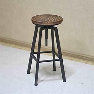 Chaise Fer Et Bois : chaise de bar american retro loft en fer forg tournant ~ Dailycaller-alerts.com Idées de Décoration