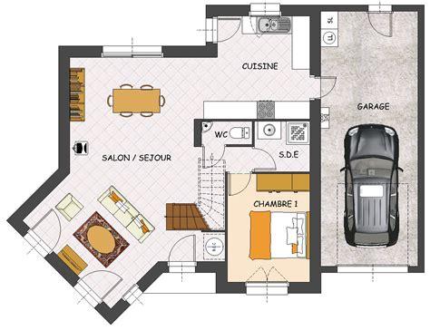plan maison plain pied 3 chambres gratuit construction maison neuve palmyre lamotte maisons
