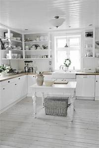 all white kitchen 35 Cozy And Chic Farmhouse Kitchen Décor Ideas - DigsDigs