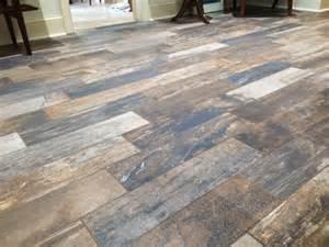 hometalk vintage woodlands wood tile flooring - Cheap Bathroom Flooring Ideas