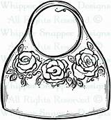 Coloring Purse Bag Wallet Printable Colouring Getcolorings Luxury sketch template