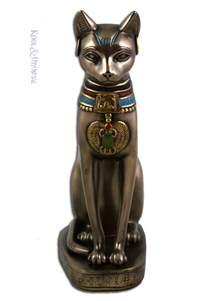 bast cat goddess bronze look bastet cat goddess statue