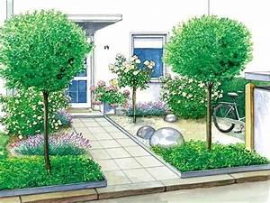 Kleinen Vorgarten Gestalten : ein vorgarten wird zum gartenhof g rten gartenideen und einfahrt ~ Frokenaadalensverden.com Haus und Dekorationen