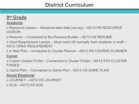 district implementation  integration  naviance