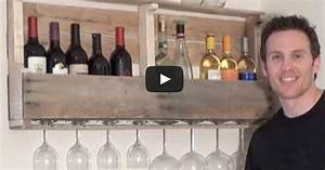Un Support Mural Pour Vos Bouteilles De Vin Fabriquer