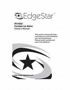 Edgestar Ice Maker Ip210ss User Guide