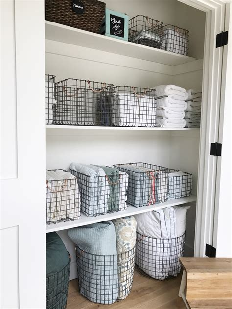 Linen Closet Baskets by Simply Done The Most Beautiful Linen Closet Simply