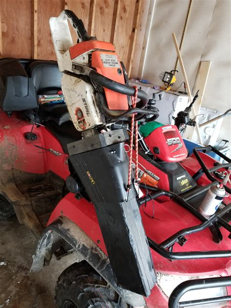 homemade chainsaw holder arcticchatcom arctic cat forum