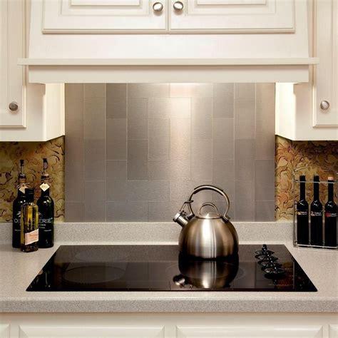aluminum backsplash kitchen 4 pieces peel and stick stainless steel backsplash tiles