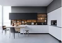 magnificent modern kitchen plan Magnificent Black And White Kitchen — Stylid Homes