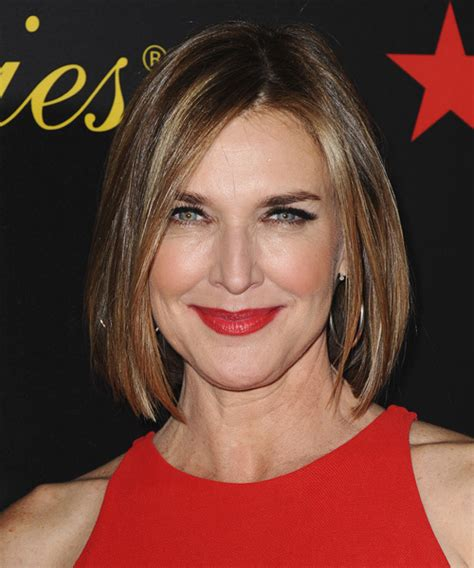 brenda strong casual medium straight hairstyle