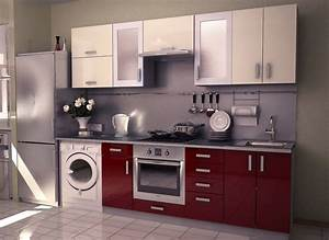innovative small modular kitchen decor inspirations With modular kitchen designs red white