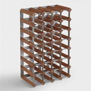 Wood Metal Industrial Wine Rack World Market