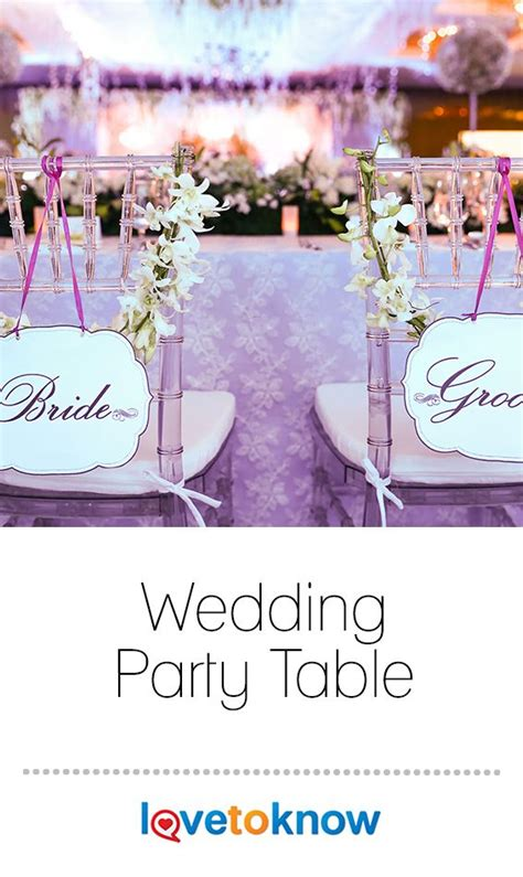 Wedding Party Table in 2020 Wedding etiquette Wedding
