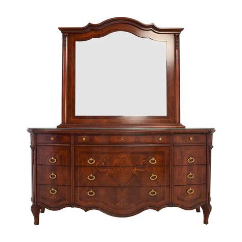 dressers antique 90 off antique european wood dresser with mirror storage