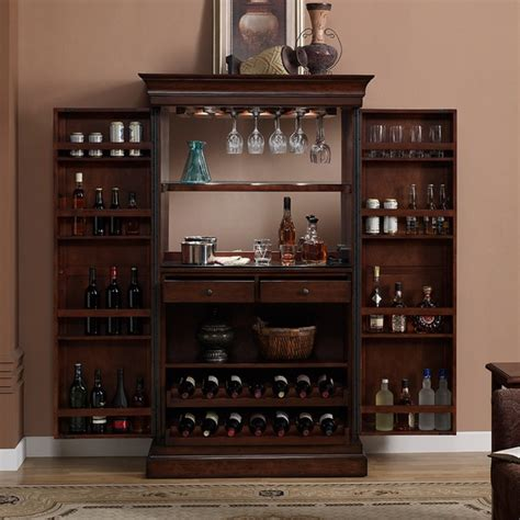 wine cabinet bar furniture ashley heights home bar wine cabinet