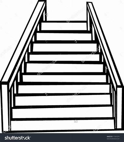 Stairs Clipart Staircases Stair Outline Vector Staircase