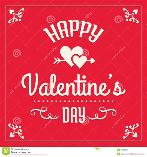 Happy valentines day card stock vector. Illustration of ...