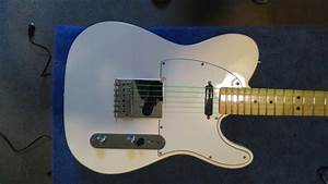 Fender Mim Telecaster 2012 White  Seymour Duncan Hot Rails