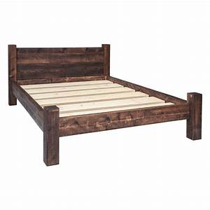 Bed Frame - Double Plank Headboard Funky Chunky Furniture