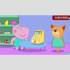 Peppa Pig Shopping Peppa Pig With Hippo Go Shopping Best App For Kids Youtube