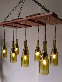 kitchen island light fixtures how to build a wine bottle chandelier diy projects for