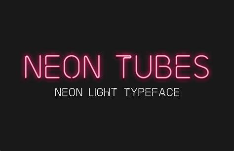 neon light letters font neon tubes neon sign font medialoot