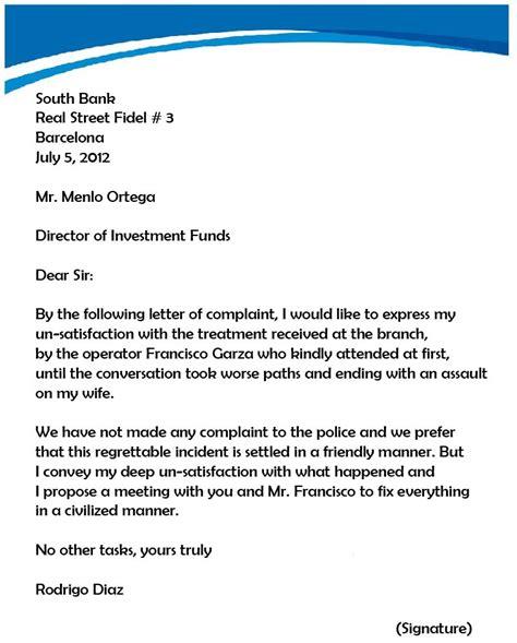 complaint letter template  hoa letter sample