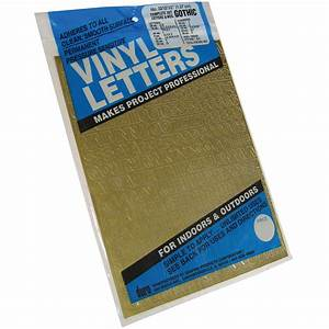 permanent adhesive vinyl letters numbers 5quot 852 pkg With gold vinyl letters