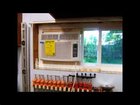 install window air conditioning ac  horzontal slider slider window window air conditioner
