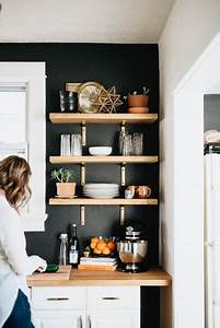 25 best ideas about kitchen shelves on pinterest open With kitchen colors with white cabinets with branches metal wall art