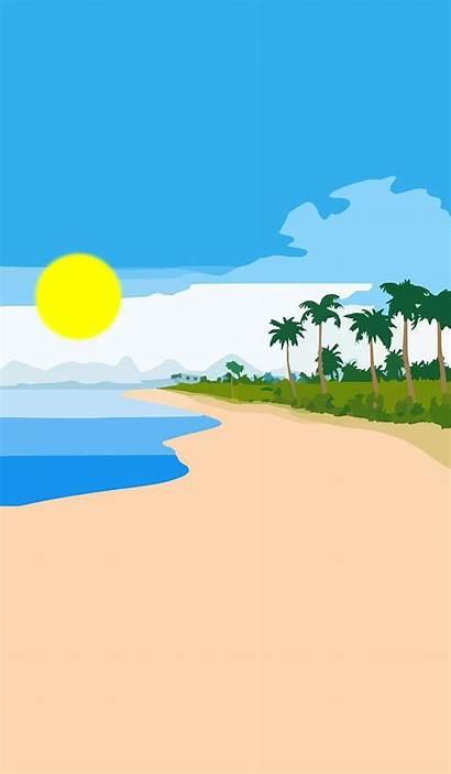 Beach Clipart Sandy Clip Shore Portrait Cartoon