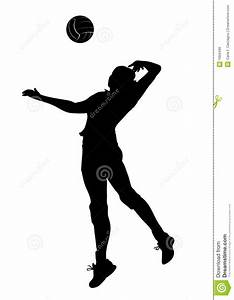 Volley Player Silhouette - Woman Royalty Free Stock Image ...