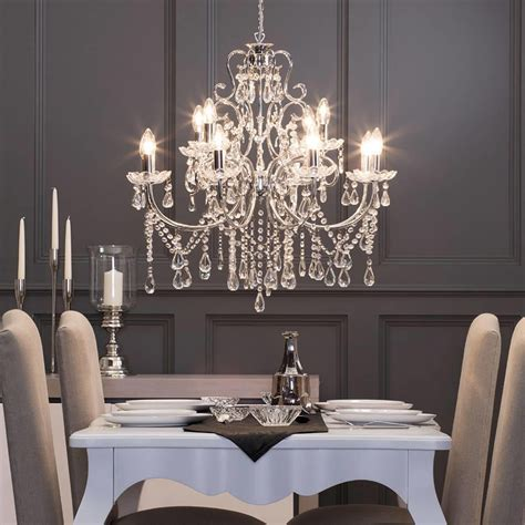 madonna chandelier  light dual mount chrome  litecraft