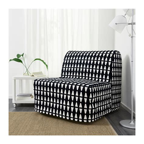 lycksele h 197 vet chair bed ebbarp black white ikea