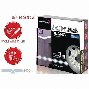 Ruban led blanc froid 3m lumihome for Carrelage adhesif salle de bain avec ampoule led blanc froid e14